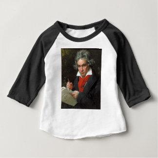 Portrait vintage de compositeur, Ludwig von T-shirt Pour Bébé