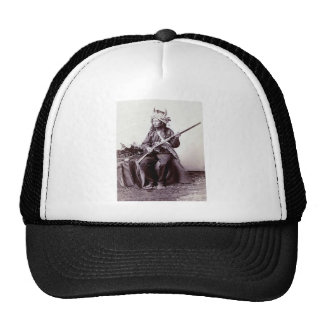 Portrait vintage de guerrier de Natif américain Casquettes De Camionneur