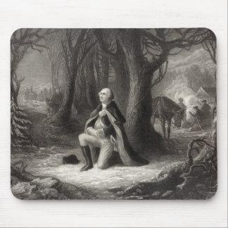 Portrait vintage de la prière de George Washington Tapis De Souris