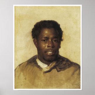 Portrait vintage d'un homme d'Afro-américain, 1777 Affiches