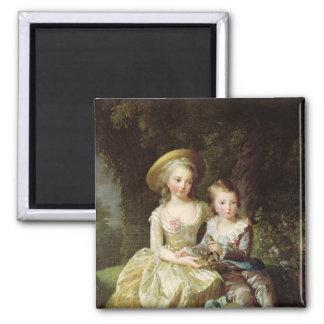 Portraits d'enfant de Marie-Therese-Charlotte Magnet Carré