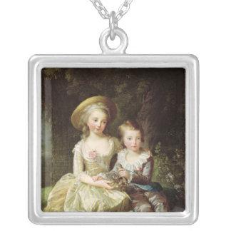 Portraits d'enfant de Marie-Therese-Charlotte Pendentif Carré