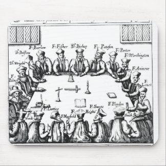 Portraits des jésuites et des prêtres tapis de souris