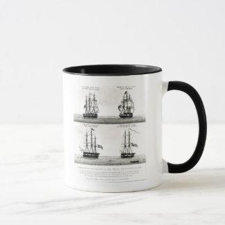 Portraits des navires sur l'expédition polaire mug