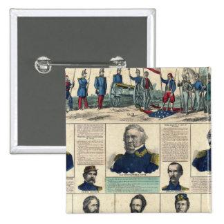 Portraits militaires badge carré 5 cm