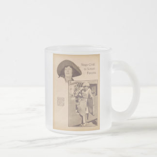Portrit vintage gris 1920 d'Ethel Terry Mug En Verre Givré