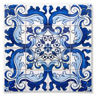 Portugais antique Azulejo de motif de tuile Photo D'art