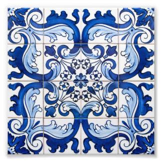 Portugais antique Azulejo de motif de tuile Photo D'art