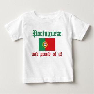 Portugais fier t-shirt pour bébé