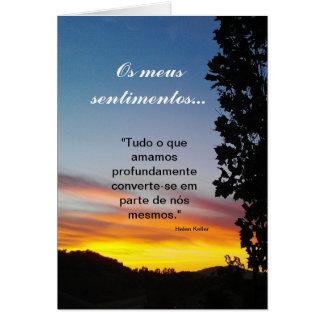 Portugais : sentimentos/sympathie Pêsames Carte De Vœux