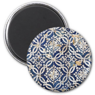 Portugais vintage Azulejo Magnet Rond 8 Cm