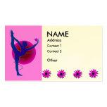 Pose de danseur - cartes de visite de yoga cartes de visite personnelles
