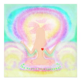 Pose de lotus de yoga. Élargissement de photo
