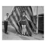 Pose patriotique, les années 1920 affiches