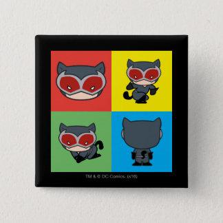 Poses de caractère de Catwoman de Chibi Pin's