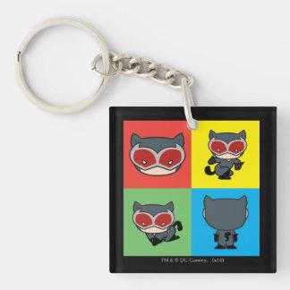 Poses de caractère de Catwoman de Chibi Porte-clé Carré En Acrylique Double Face