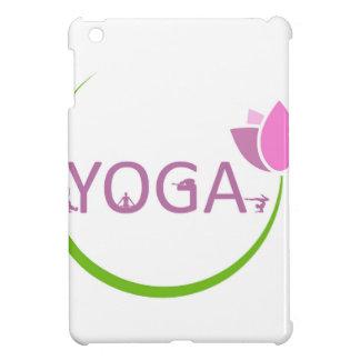 Poses de YOGA avec un lotus rose Coque Pour iPad Mini