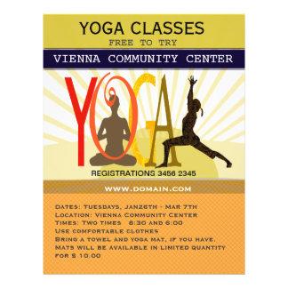 Poses de yoga de forme physique de sport de rayons prospectus 21,6 cm x 24,94 cm