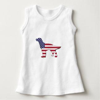 """Poseur anglais - """"drapeau américain """" robe sans manche"""