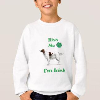Poseur-Baiser rouge et blanc je je suis irlandais Sweatshirt
