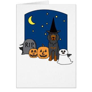 Poseur de Gordon Halloween Carte De Vœux