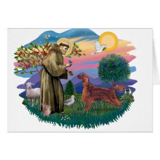 Poseur irlandais carte de vœux