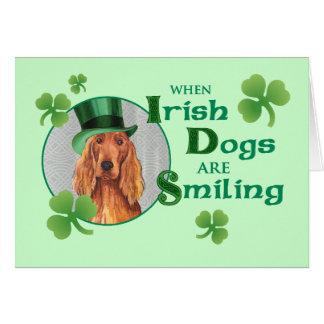 Poseur irlandais du jour de St Patrick Carte De Vœux