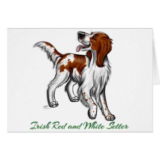 Poseur rouge et blanc irlandais cartes