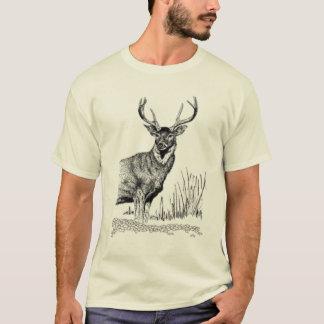 Position de cerfs communs t-shirt