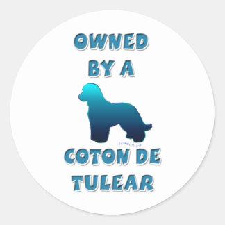 Possédé par un coton de Tulear Sticker Rond