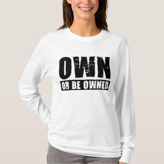 Posséder ou être T-shirt Long-SL (noir-affligé)