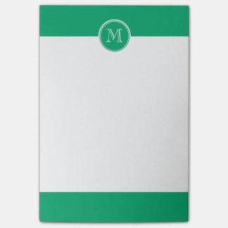 Post-it® À extrémité élevé de jade coloré personnalisé