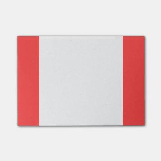 Post-it® À extrémité élevé rouge de corail coloré