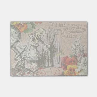 Post-it® Alice dans le chapelier et le lapin du pays des