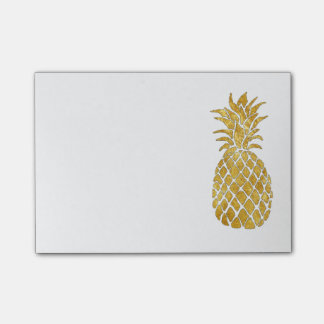 Post-it® ananas de feuille d'or de faux de charme