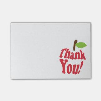 Post-it® Appréciation rouge d'Apple de Merci