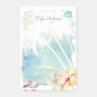 Post-it® Aquarelle tropicale | de vibraphone de plage