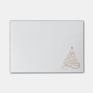 Post-it® Arbre de Noël en filigrane métallique de motif