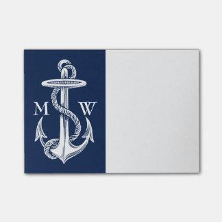 Post-it® Arrière - plan blanc vintage de bleu marine de
