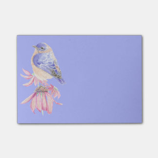 Post-it® Art bleu d'oiseau d'oiseau bleu oriental