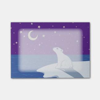 Post-it® Art de CUB d'ours blanc d'observation des étoiles