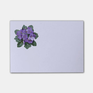Post-it® Art floral de fleur pourpre de violette africaine