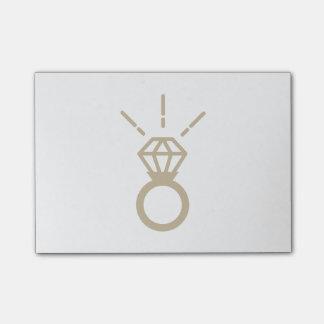 Post-it® Bague à diamant d'or