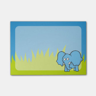 Post-it® Bande dessinée bleue d'éléphant