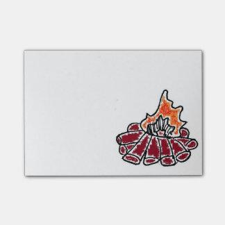 Post-it® Bande dessinée confortable de feu de camp