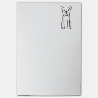 Post-it® Bande dessinée de chien de boxeur de Taureau