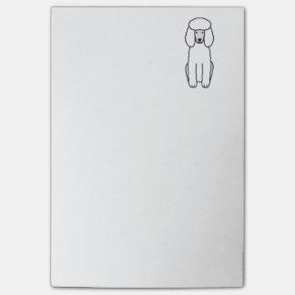 Post-it® Bande dessinée de chien de caniche