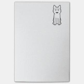 Post-it® Bande dessinée de chien de chien de traîneau