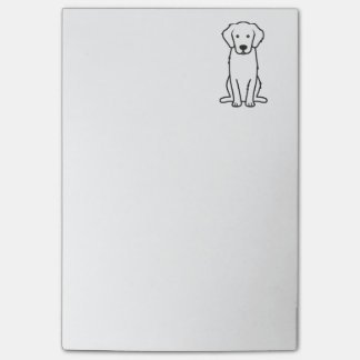 Post-it® Bande dessinée de chien de golden retriever