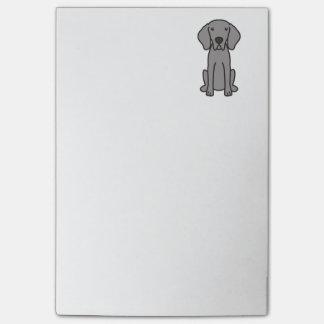 Post-it® Bande dessinée de chien de Weimaraner